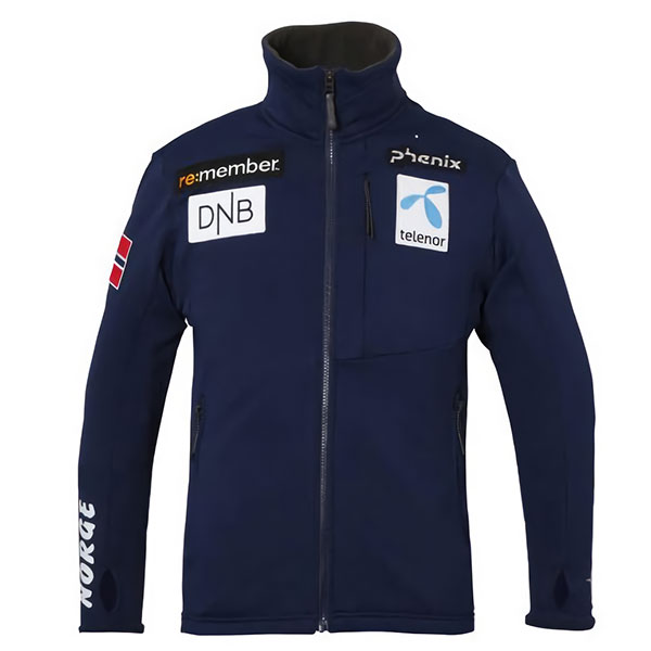 1718 피닉스 미들러 스키복phenix Norway Team Fleece Jacket NV PF772KT06