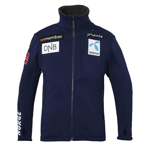 1718 피닉스 미들러 스키복phenix Norway Team Fleece Jacket NV PF772KT06