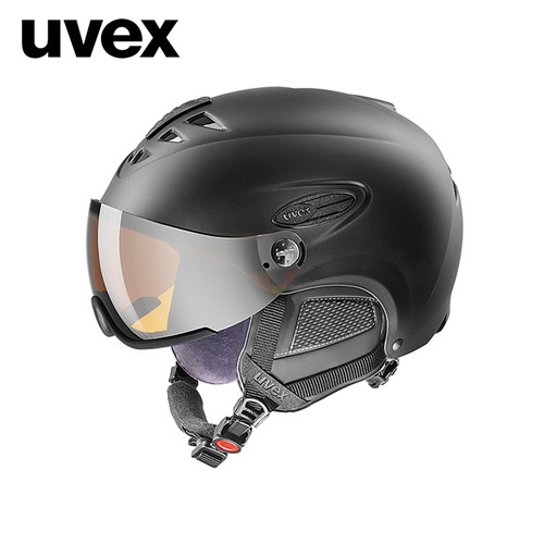 우벡스 1718 바이저 스키 헬멧uvex hlmt 300 visor black mat