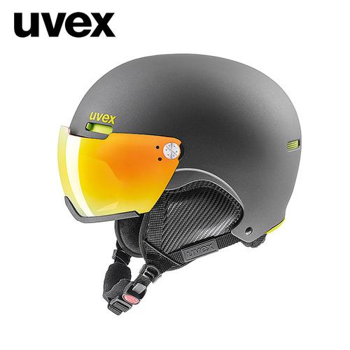 우벡스 1718 바이저 스키 헬멧uvex hlmt 500 visor gun-lime mat
