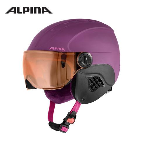 알피나 1718 주니어 바이저 헬멧ALPINA CARAT L.E. VISOR HM violet matt