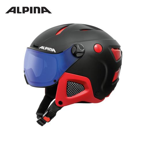 알피나 1718 스키 바이저 헬멧ALPINA ATTELAS VISOR VHM black-red matt