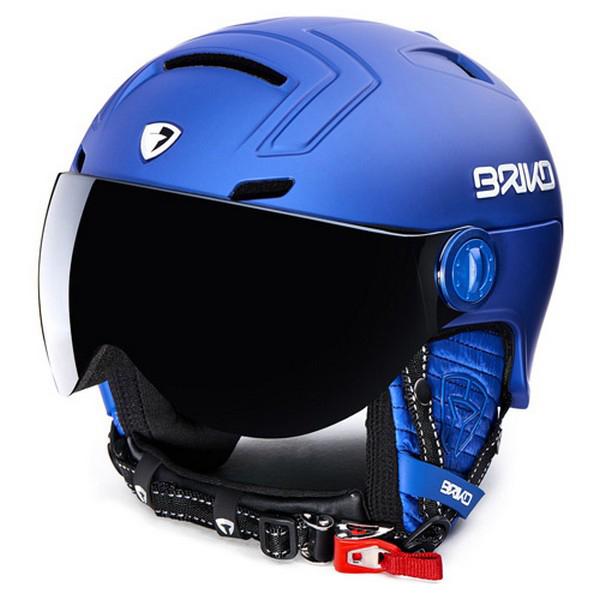 브리코 1718 스키 헬멧BRIKO STROMBOLI VISOR PHOTO MATT BLUE NAVY