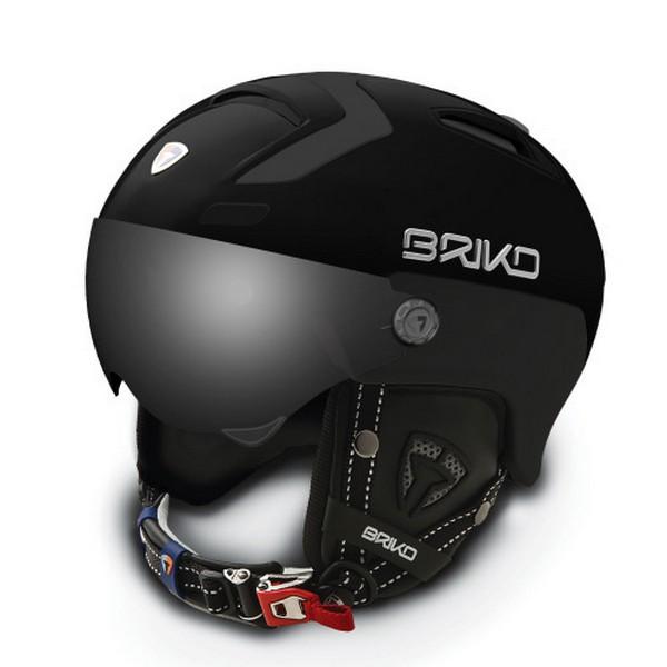 브리코 1718 스키 헬멧BRIKO STROMBOLI VISOR PHOTO MATT BLACK