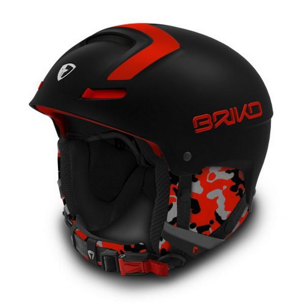 브리코 1718 스키 헬멧BRIKO FAITO MATT BLACK ORANGE FLUO
