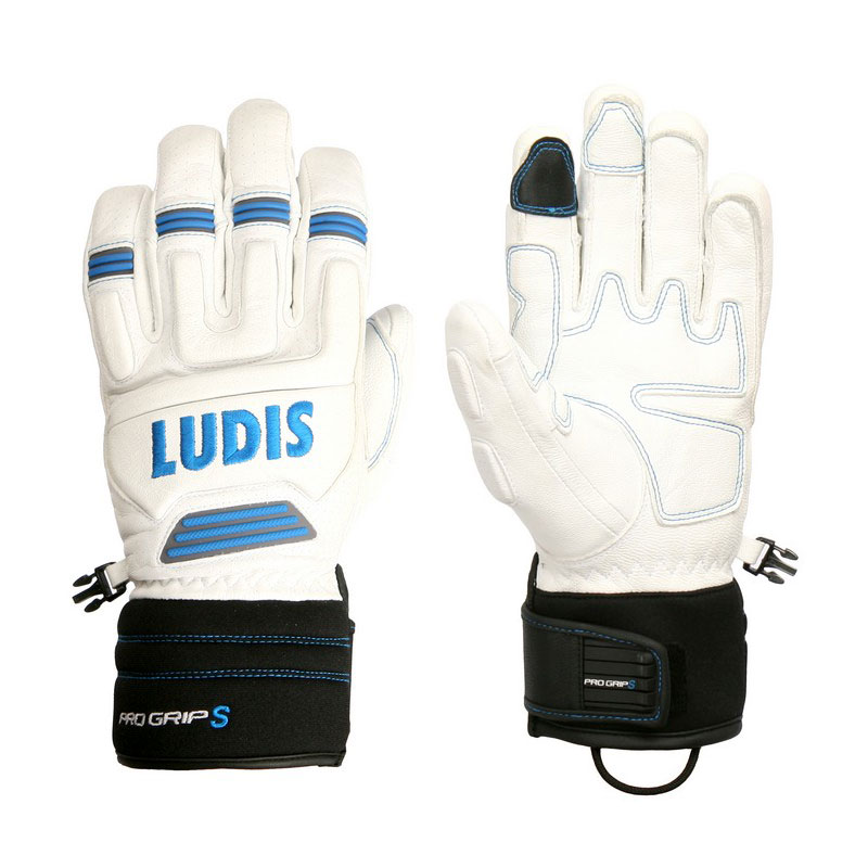 루디스 1718 스키 장갑LUDIS PRO GRIP S 8 WHITE/BLUE