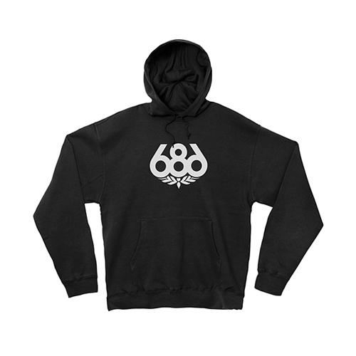 686 스노우보드 후드 1718686 Wreath Print Hood Fleece Black