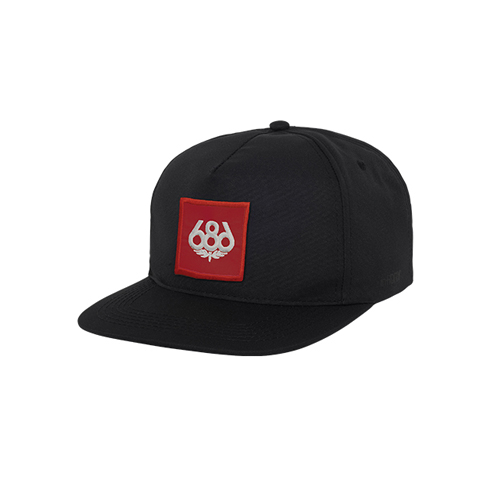 686 스냅백 1718686 Knockout 5 panel Snapback Hat Black