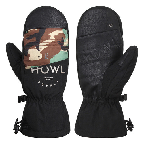 하울 1718 스노우보드 장갑HOWL GLOVES HOWL TEAM MITT BLACK