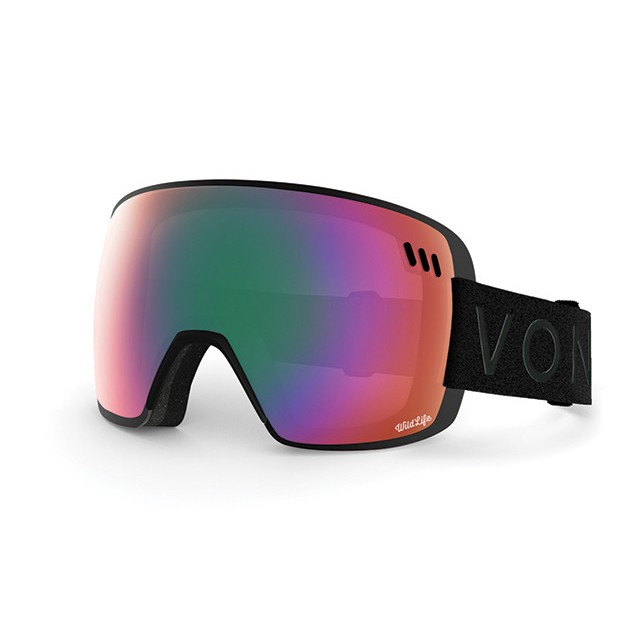 본지퍼 1718 스노우보드 고글VONZIPPER ALT XM-TORIC BLACK SATIN WILDLIFE CHROME
