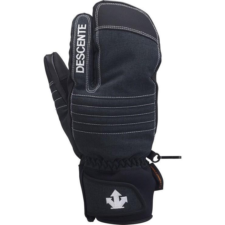 데상트 1819 스키 남성 삼지 장갑DESCENTE MAN 3FINGER GLOVE MITTEN BLK DWBMJD63