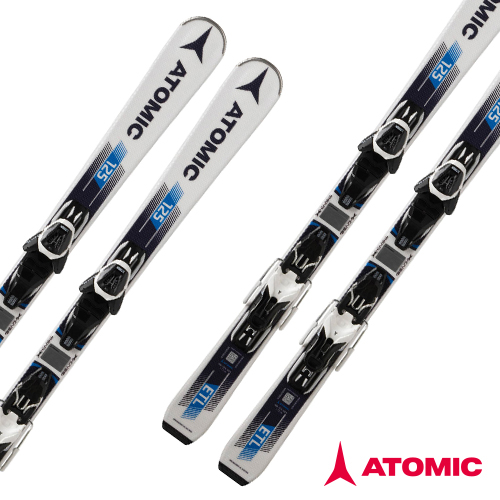 아토믹 1819 스키 플레이트ATOMIC ETL 125 R EZY2 White/Dark Blue E LITHIUM 10 AW Black/Wht