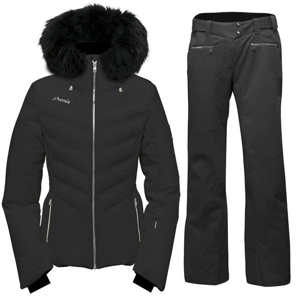 피닉스 1819 데모 여성 스키복Phenix Chloe Hybrid Down Jacket/Teine Slim Pants ES882OT58R+ES882OB61/BK