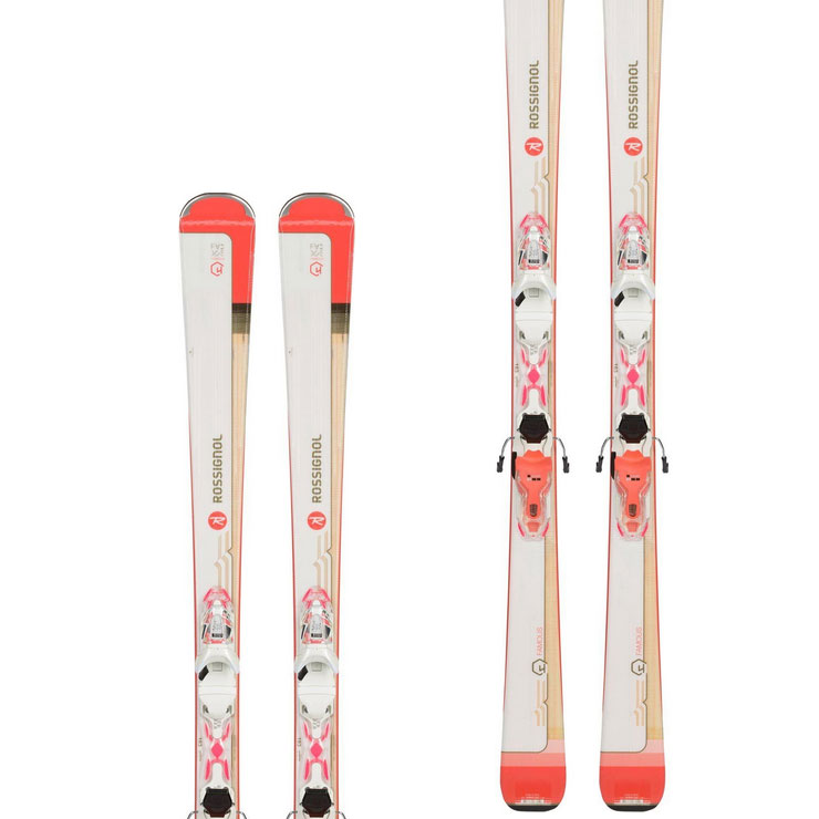 로시롤 1819 스키 여성 플레이트ROSSIGNOL FAMOUS 4 XPRESS W 10 B83 WHITE/CORAI