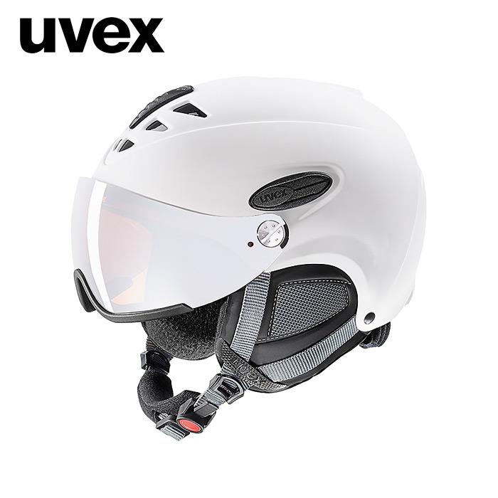 1819 우벡스 스키 바이저 헬멧uvex hlmt 300 visor white mat
