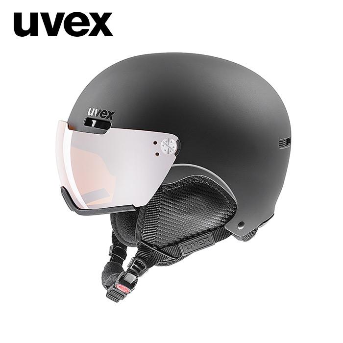 1819 우벡스 스키 바이저 헬멧uvex hlmt 500 visor black mat