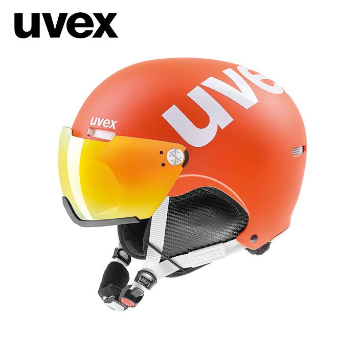 1819 우벡스 스키 바이저 헬멧uvex hlmt 500 visor orange mat