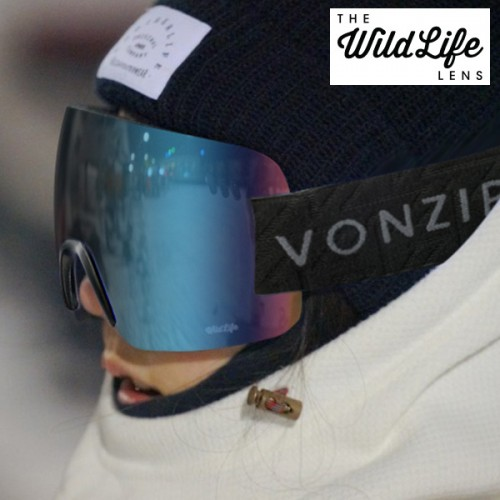 1920 본지퍼 ALT XM 스노우 고글 VONZIPPER ALT XM BLACK SATIN_WILD QUASAR CHROME