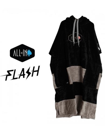 ALL IN V-FLASH PONCHO_BLACK, SILVER (올인 판초,비치타올)