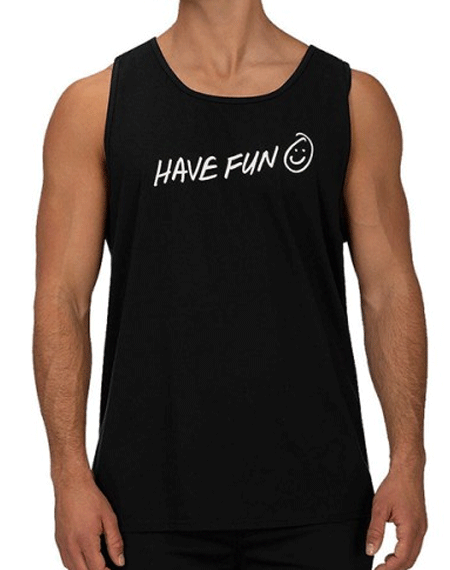20 헐리HURLEY HAVE FUN TANK_BLACK WHITE