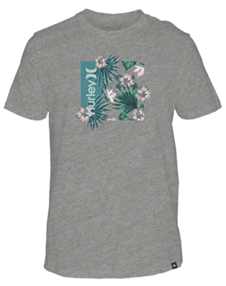 20 헐리HURLEY ONE & ONLY FLORAL BOX SHORT SLEEVE TEE_DK GREY HEATHER